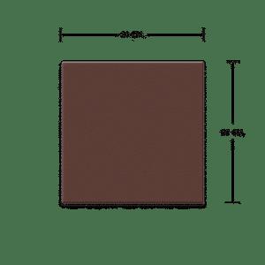 กระเบื้องดินเผา สีช็อกโกแลต 20x20