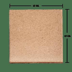 กระเบื้องดินเผา สีมันปู 15x15